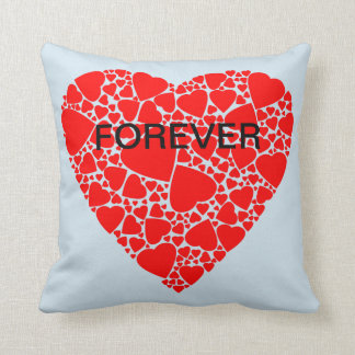 LOVE FOREVER Red Heart Pillow