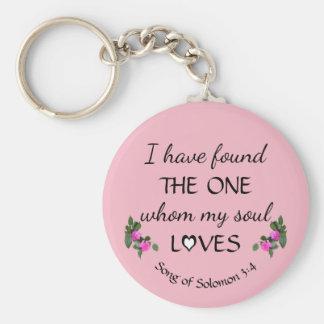 Love Found Bible Verse Keychain