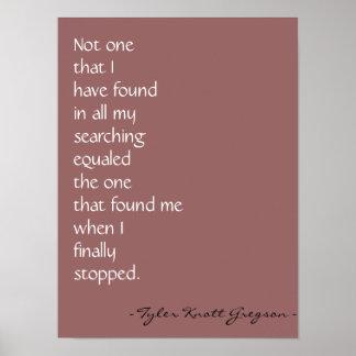 """Love found me"" Print"