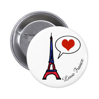 love France 6 Cm Round Badge