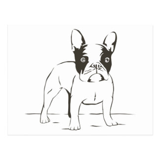 Love French Bulldog Puppy Dog Post Card