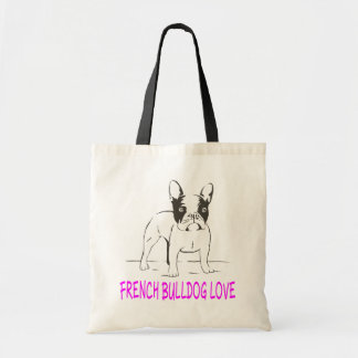 Love French Bulldog Puppy Dog Tote Bag
