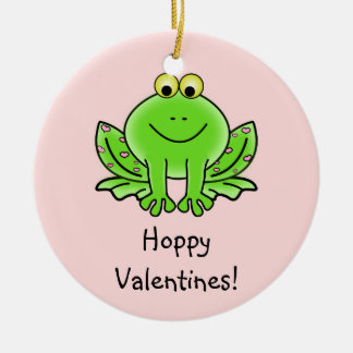 Love Frog Funny Greeting: Hoppy Valentine's Day Christmas Ornament