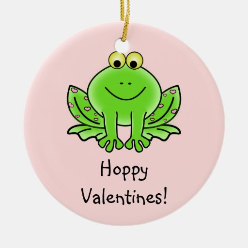 Love Frog Funny Greeting: Hoppy Valentine's Day Christmas Ornaments