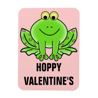 Love Frog Funny Greeting: Hoppy Valentine's Day Flexible Magnet