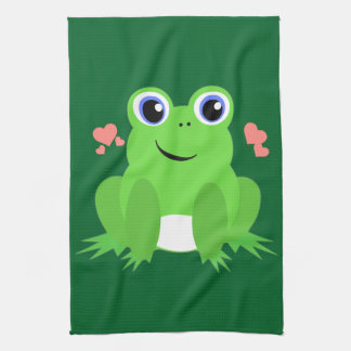 Love Frog Tea Towel