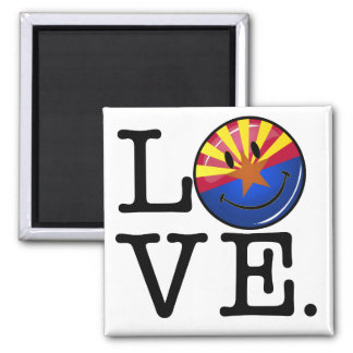Love From Arizona Smiling Flag Square Magnet