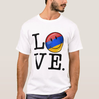 Love From Armenia Smiling Flag T-Shirt