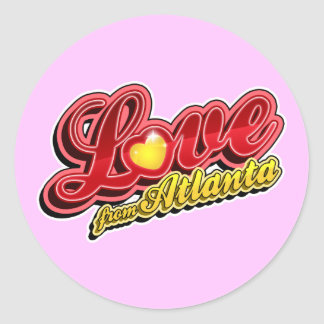 Love From Atlanta Classic Round Sticker