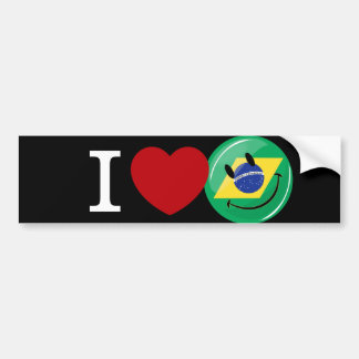 Love from Brazil Smiling Face Bumper Sticker