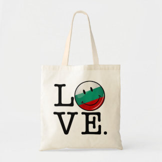 Love From Bulgaria Smiling Flag Budget Tote Bag