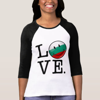 Love From Bulgaria Smiling Flag T-Shirt