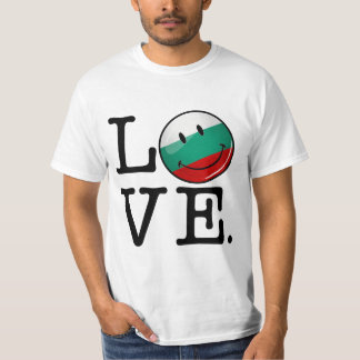 Love From Bulgaria Smiling Flag T Shirts