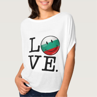 Love From Bulgaria Smiling Flag Tee Shirts