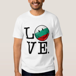 Love From Bulgaria Smiling Flag Tees