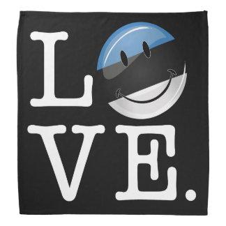 Love From Estonia Smiling Flag Bandana