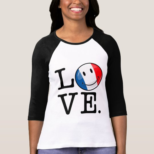 Love From France Smiling Flag T-Shirt