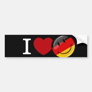 Love From Germany Smiling Flag Bumper Sticker