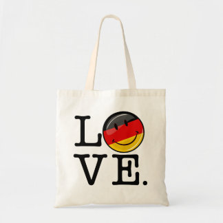 Love From Germany Smiling Flag Budget Tote Bag