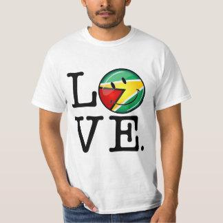 Love From Guyana Smiley Guyanese Flag T-Shirt