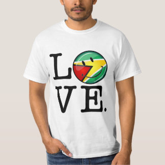 Love From Guyana Smiling Guyanese Flag T-Shirt