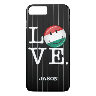 Love From Hungary Smiling Flag iPhone 7 Plus Case