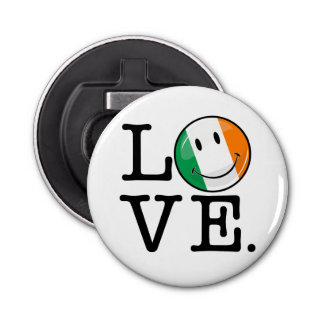 Love From Ireland Smiling Flag Bottle Opener
