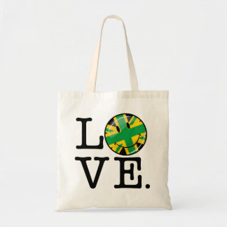 Love from Jamaica and Britain Budget Tote Bag