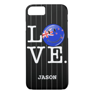 Love From New Zealand Smiling Flag iPhone 7 Case