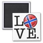 Love From Norway Smiling Flag Square Magnet