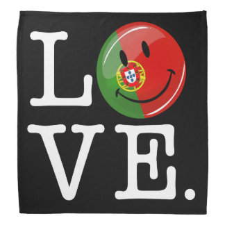 Love From Portugal Smiling Flag Bandana