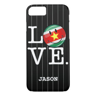 Love From Suriname Smiling Flag iPhone 7 Case