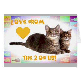 Love from the 2 of Us! Greeting Card