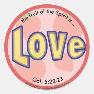 Love Fruit of the Spirit Spots Sticker
