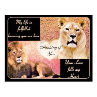 Love Fulfilled,Love You_ Postcard