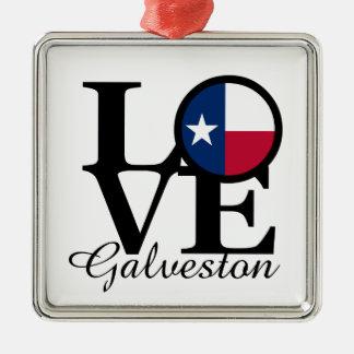 LOVE Galveston Christmas Ornament