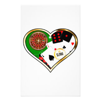 Love Gambling Stationery Paper