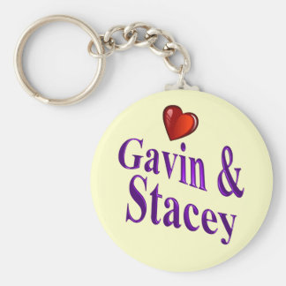 Love Gavin and Stacey Basic Round Button Key Ring