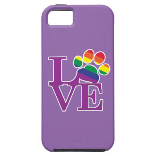 Love-Gay-Pawprint- iPhone 5 Cases
