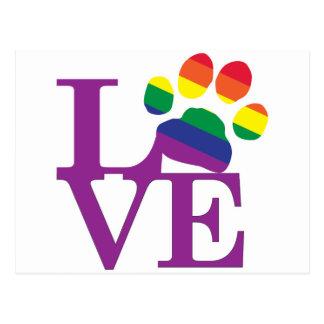 Love-Gay-Pawprint- Postcard