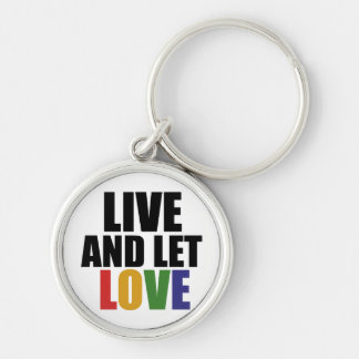 LOVE gay rights are equal rights Silver-Colored Round Key Ring