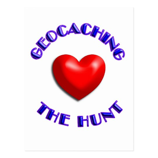Love geocaching and the hunt postcard