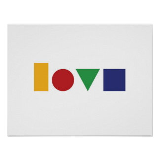Love geometric print or poster