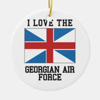 Love Georgian Air Force Christmas Ornament