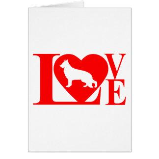 LOVE GERMAN SHEPHERD 1283 LH GREETING CARD