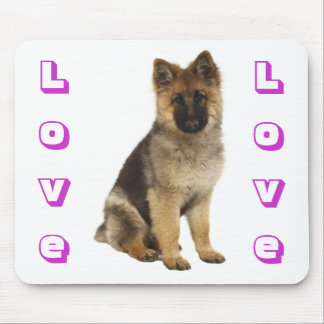 Love German Shepherd Puppy Dog Computer Mousepad