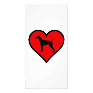 Love German short-Haired Pointer Silhouette Heart Photo Card