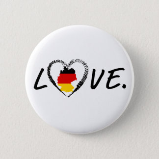 Love Germany. 6 Cm Round Badge