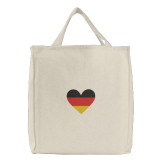 "Love Germany ""Heart Flag"" Embroidered Bag"