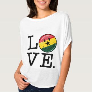 Love Ghana Smiling Ghanian Flag T-Shirt
